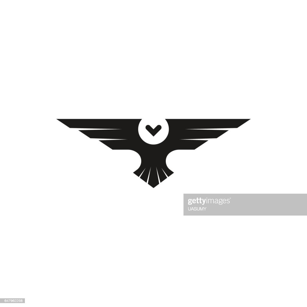Owl isolated bird silhouette negative space minimal style, black and white animal tattoo insignia