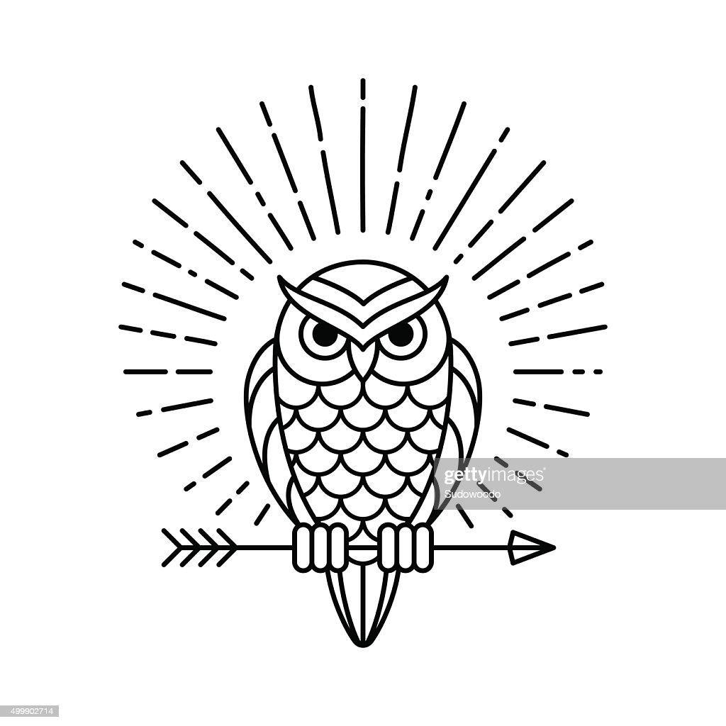 Owl line icon