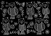 Owl pattern background.