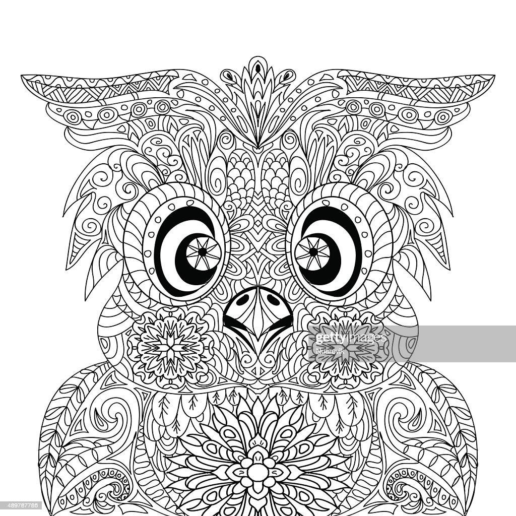 Owl Portrait mandala