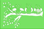 owl stencils art