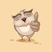 Owl thumb up