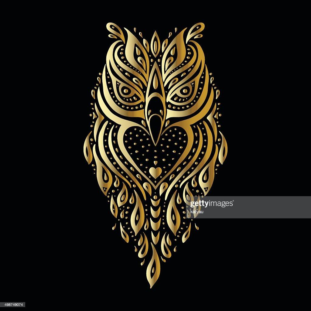 Owl. Tribal pattern