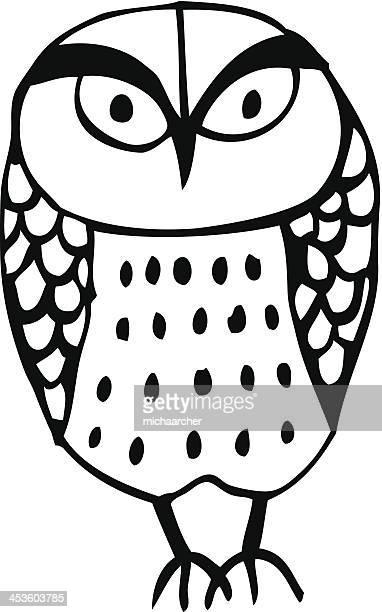 owl - falconry stock illustrations