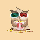 Owl watching a movie