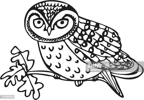 フクロウの子 - named animal点のイラスト素材/クリップアート素材/マンガ素材/アイコン素材