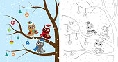 Owls on the tree coloring