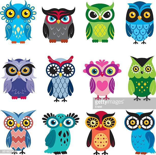 owls - owl stock illustrations