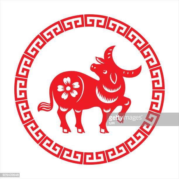 ilustrações, clipart, desenhos animados e ícones de touro, signo do zodíaco - ox oxen