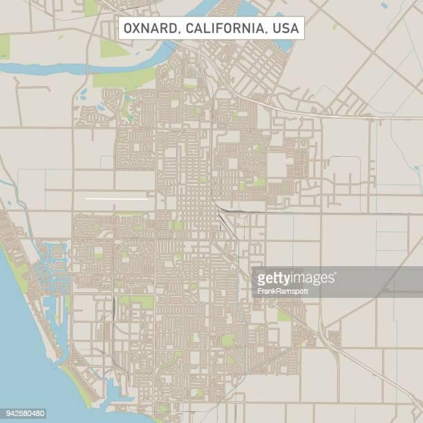 Oxnard California US City Street Map
