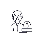 Oxygen mask linear icon concept. Oxygen mask line vector sign, symbol, illustration.