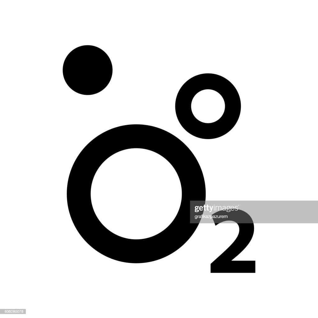 Oxygen O2 Icon, vector illustration.