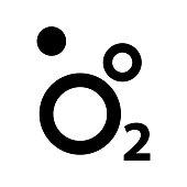 Oxygen O2 Icon, vector illustration.