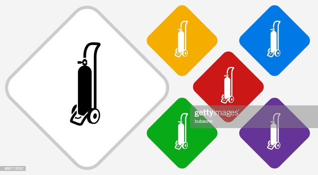Oxygen Tank Color Diamond Vector Icon Vector Art Getty Images