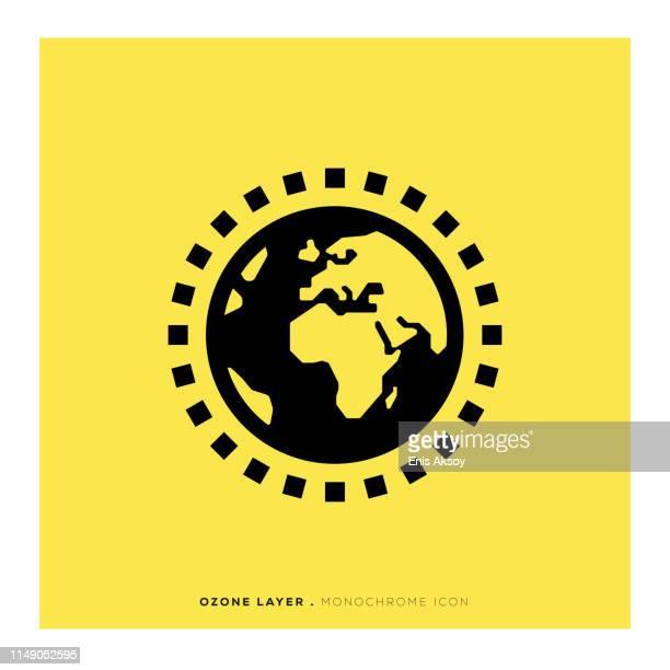Ozone Layer Monochrome Icon