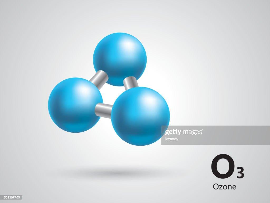 Ozone molecular model