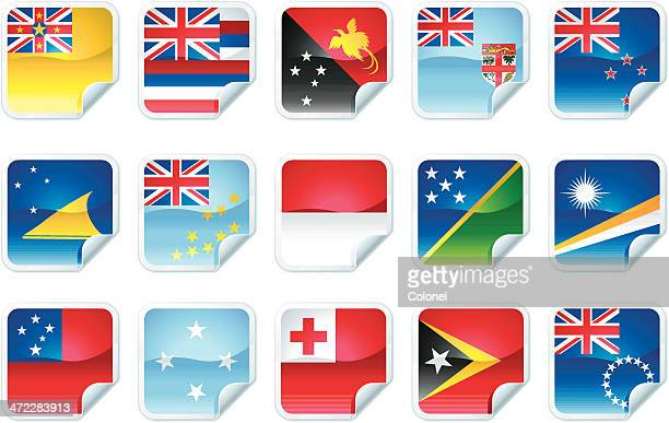 pacific island flags - marshall islands stock illustrations, clip art, cartoons, & icons