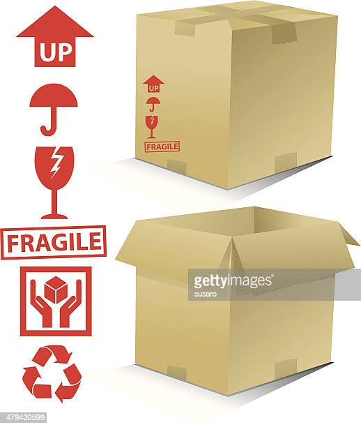 pack and ship it! - fragile sign stock illustrations