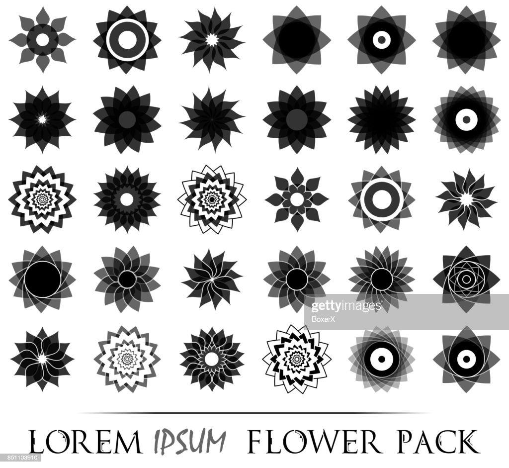 Packung Mit 30 Transparente Leichte Schwarze Abstrakte Geometrische ...