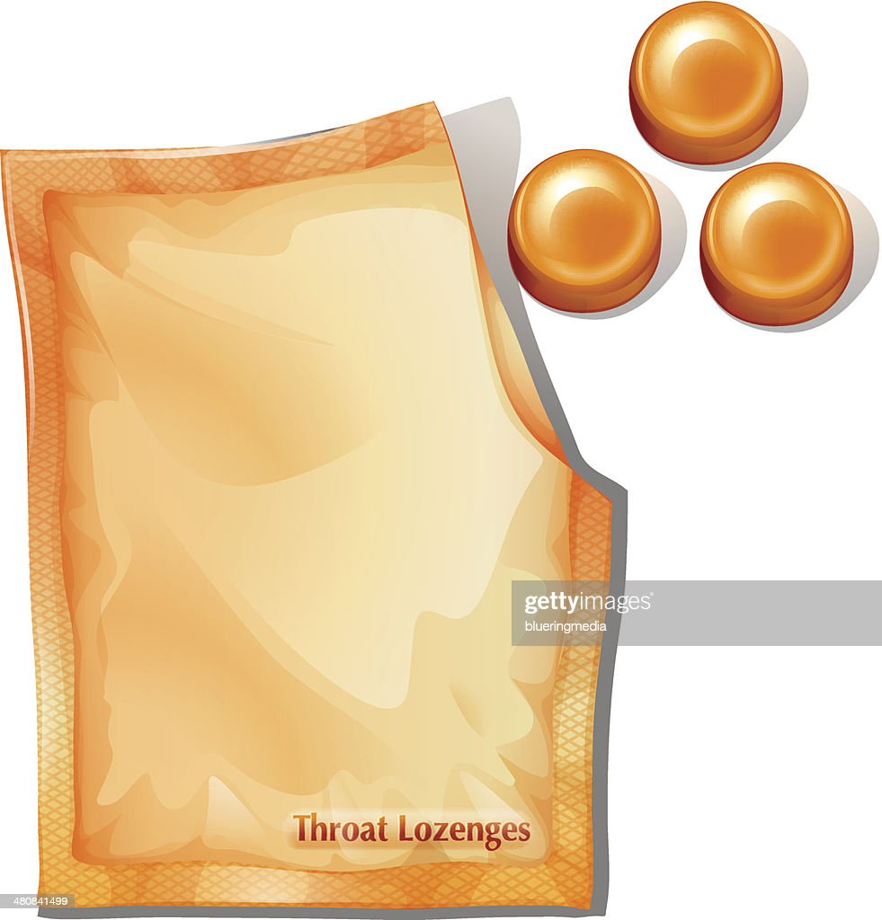Pack of orange throat lozenges