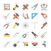 Pack of Power Tools Flat Icons