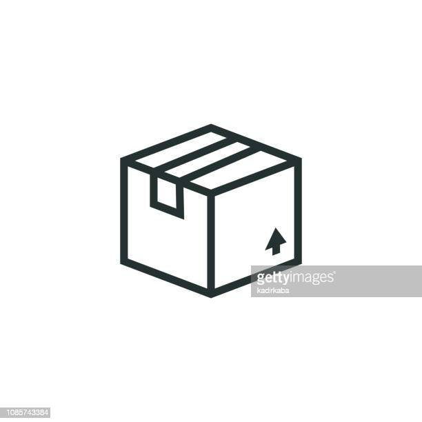 package line icon - package stock illustrations