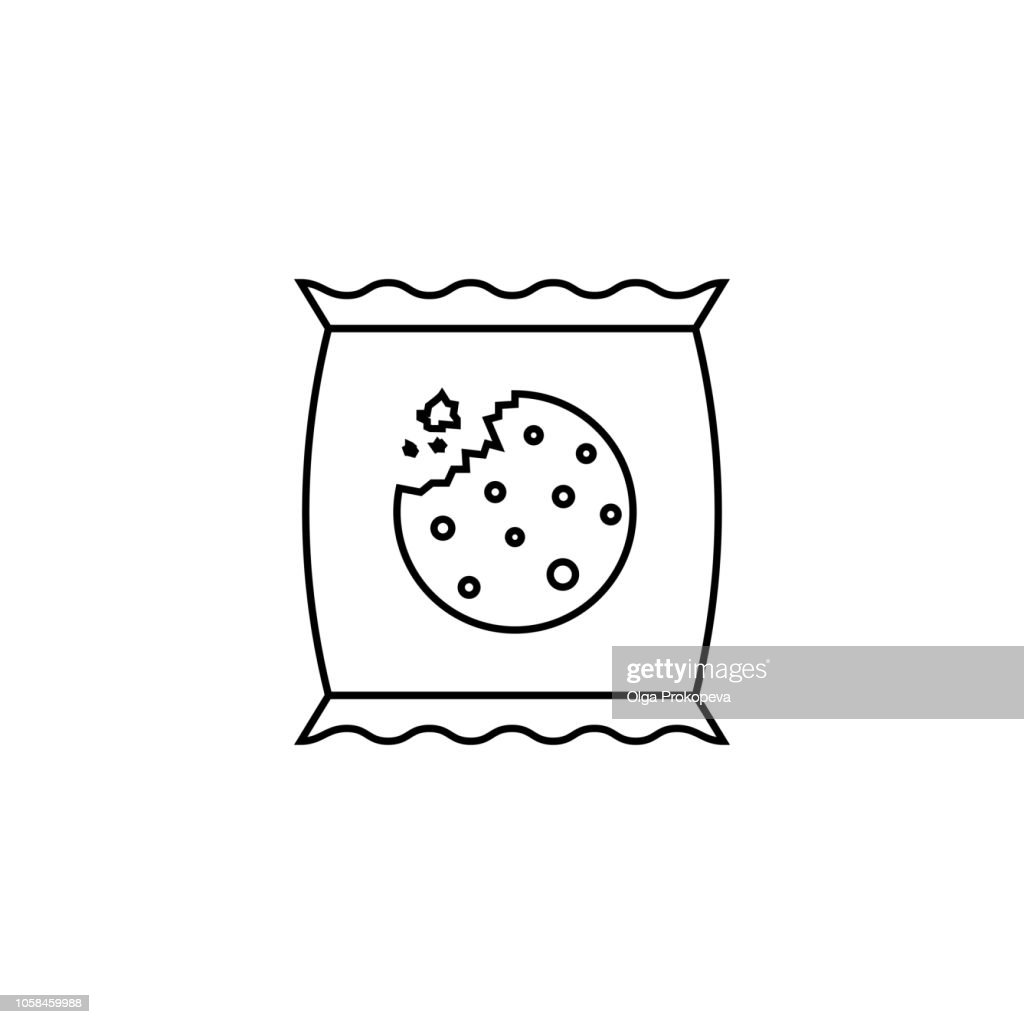 Packaged cookies linear icon