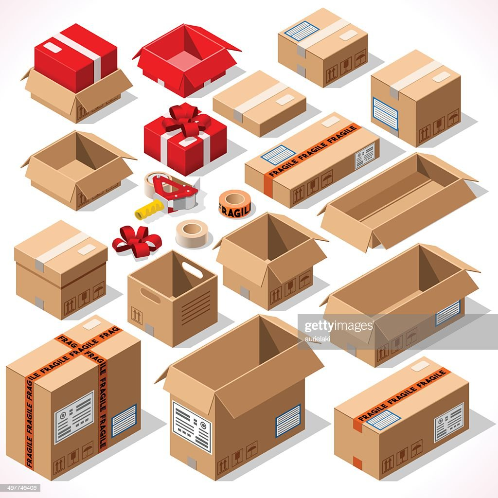Packaging 01 Objects Isometric