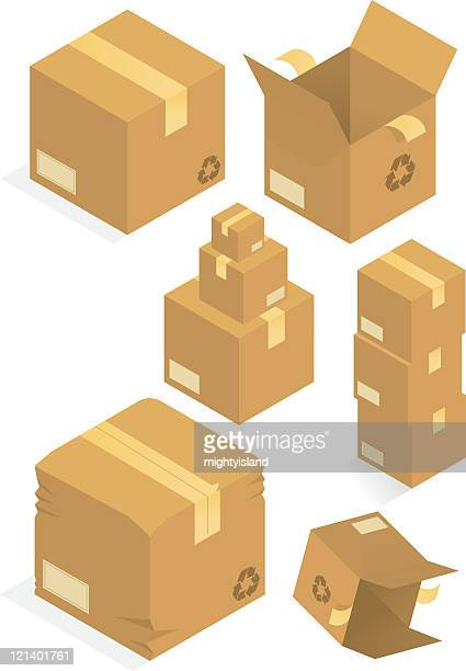 Packaging boxes.