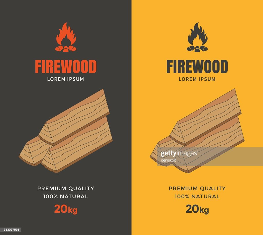 Packaging design for firewood