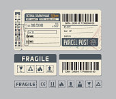 Packaging Labels. Sticker for Parcel post or Packaging