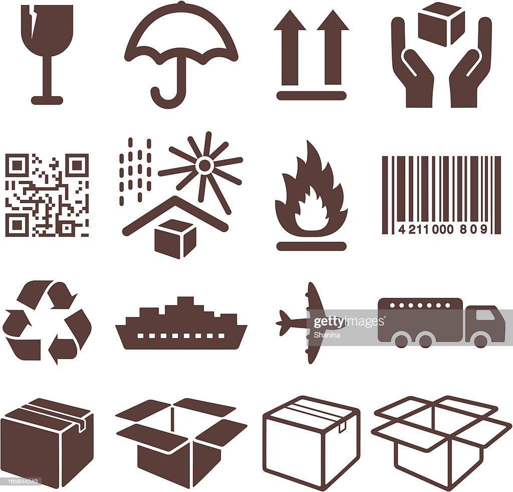 Packaging Symbols - Icons Set