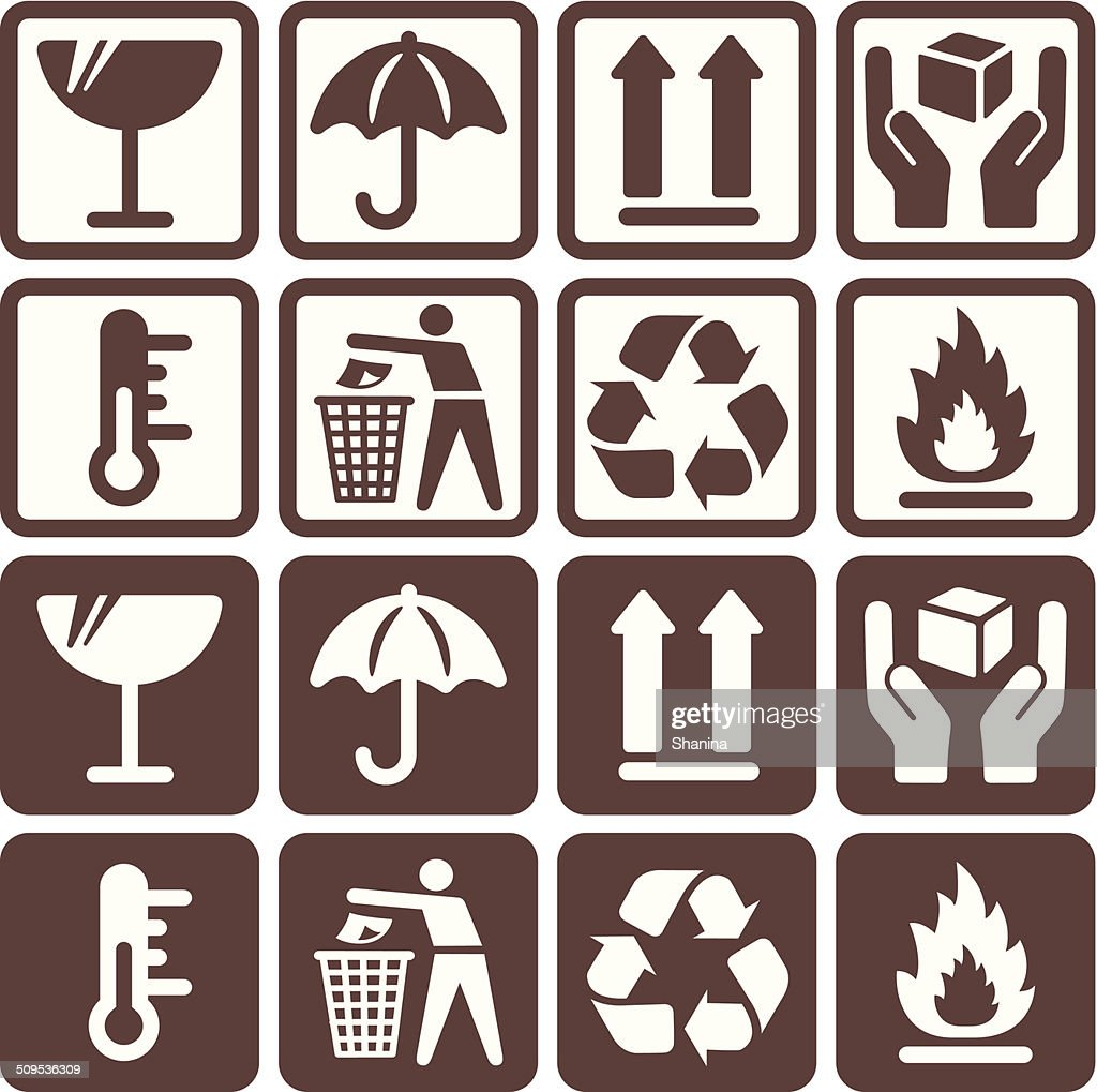 Packaging Symbols - Negative and Positive