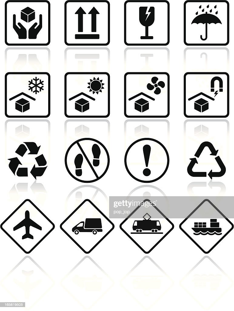 Packaging transportation icons