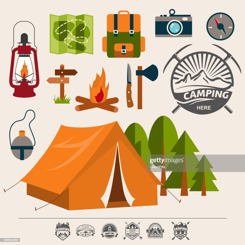 Packing supplies for an outdoor camping adventure