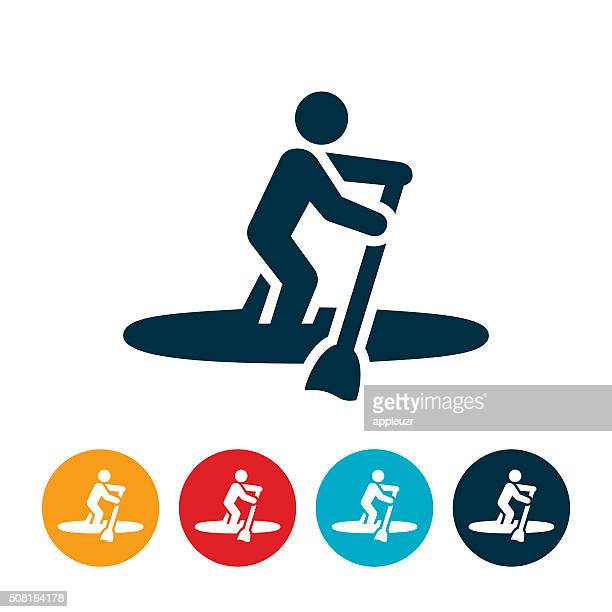 Paddleboarding Icon
