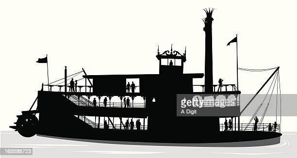 PaddleBoat Vector Silhouette