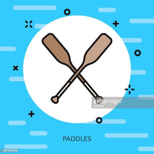 Paddles Thin Line Sports Icon