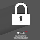 padlock icon. flat modern design