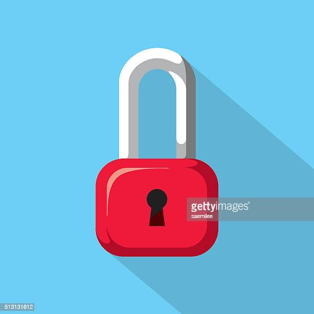 padlock icon - closed sign stock illustrations, clip art, cartoons, & icons