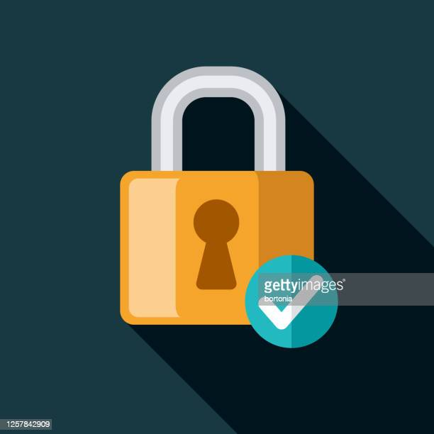 padlock online security icon - identity theft stock illustrations