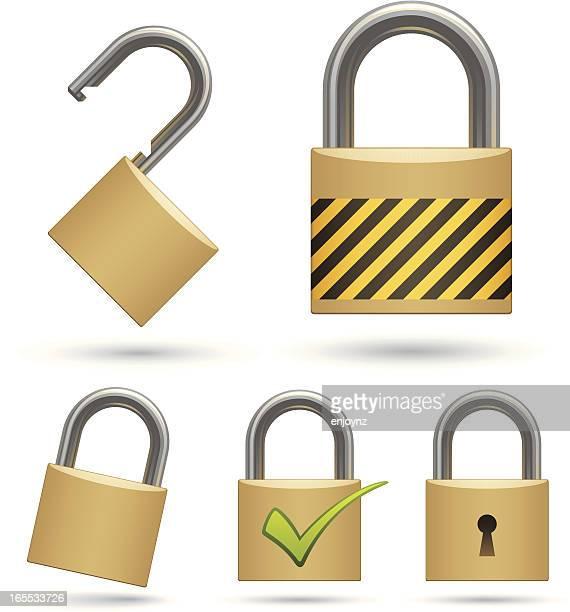 padlocks - padlock stock illustrations