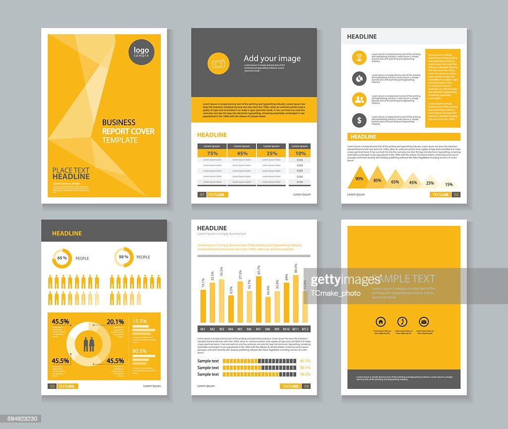 page brochure, flyer ,report Layout design template, and cover design