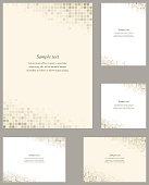 Page corner design template set