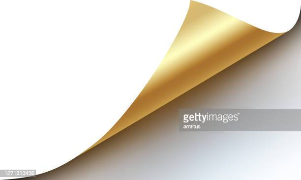 page curl gold - corner stock illustrations