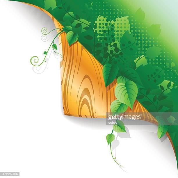 ilustraciones, imágenes clip art, dibujos animados e iconos de stock de página de exuberantes plantas flexión - enredadera