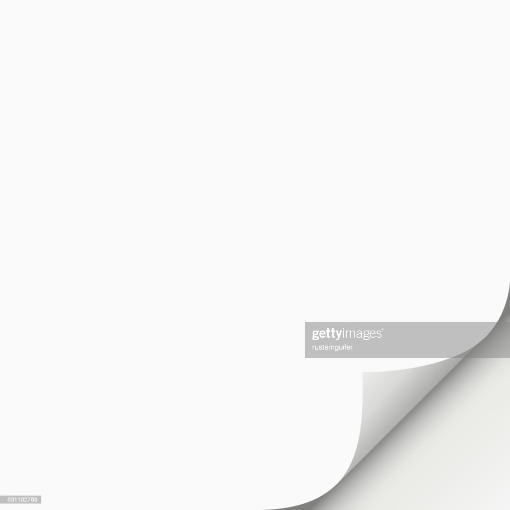 Page curl : stock illustration