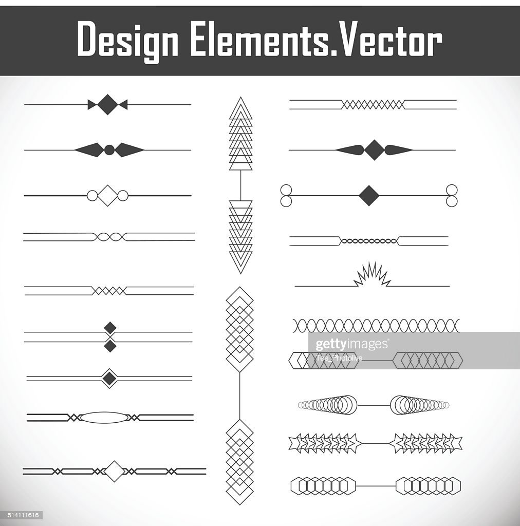 Page Decoration Design Elements.
