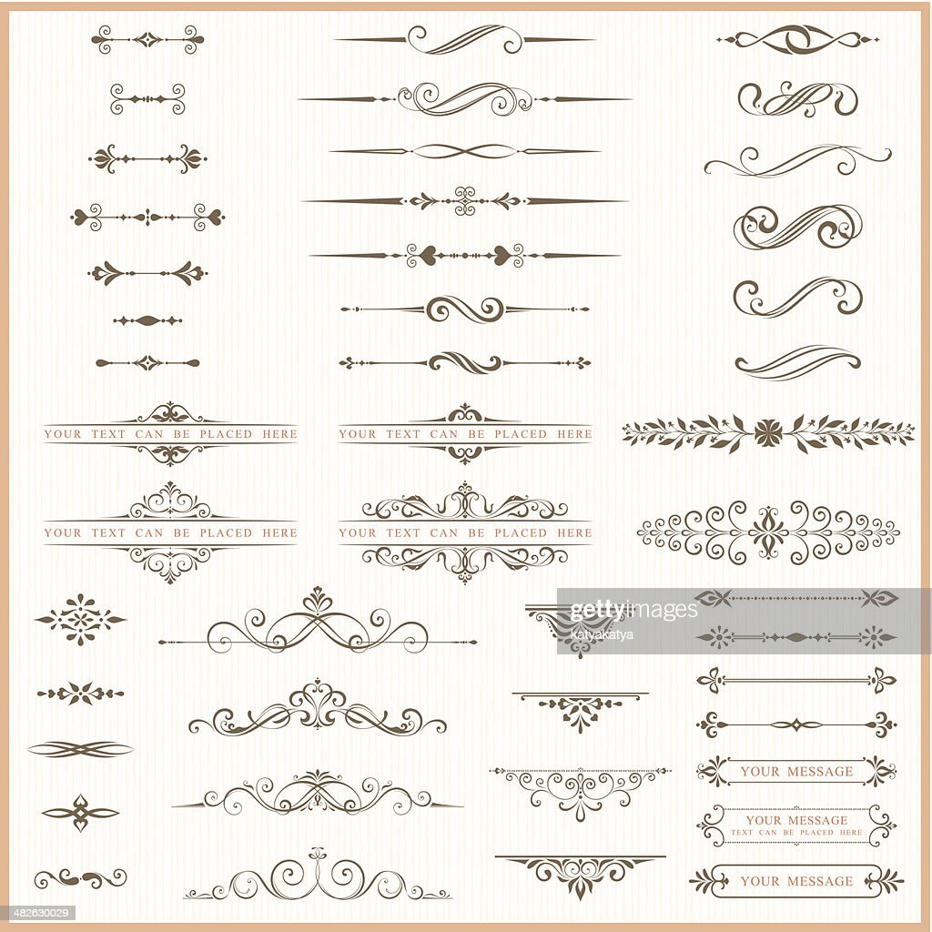 Page dividers and ornate elements