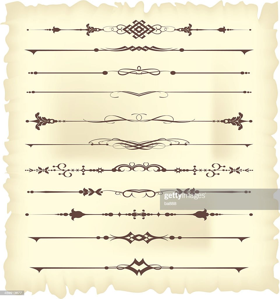 Page dividers for your design